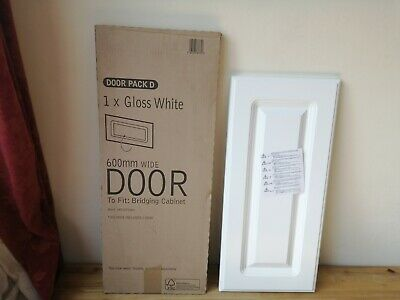 Gloss White Kitchen Door Bridging Cabinet Door X 1 600mm Door Brand New' • 59.99£