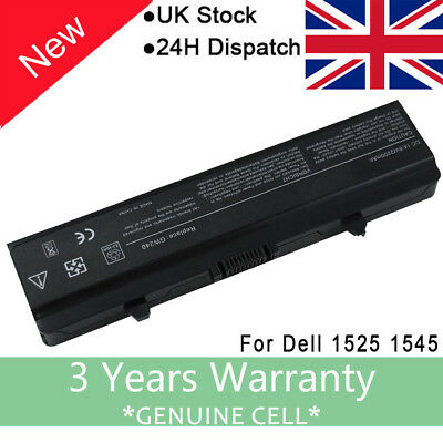 14.8V 28wh FOR DELL INSPIRON 1545 TYPE GW240 LAPTOP BATTERY 4-CELL (1525 1545 )F • 14.59£