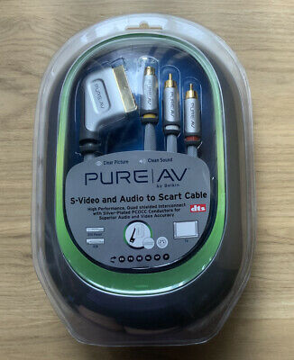 Belkin PURE AV S-Video And Audio To Scart Cable 1.2m/4ft NEW • 12.95£