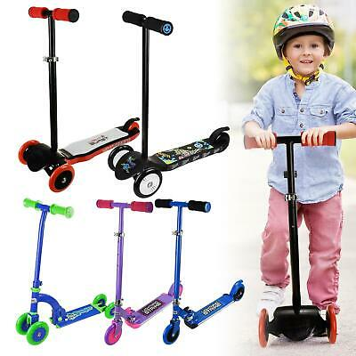 £24.98 • Buy 3-Wheeled Kick Push Start Mini Toddler Scooter For Kids With Brake Ages 3-12