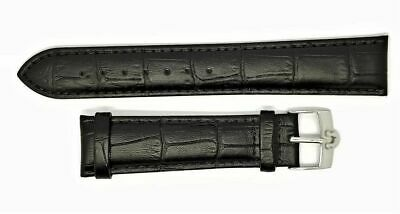 New 20mm BLACK Genuine Leather Watch Strap / Steel Buckle For Omega • 19.99£