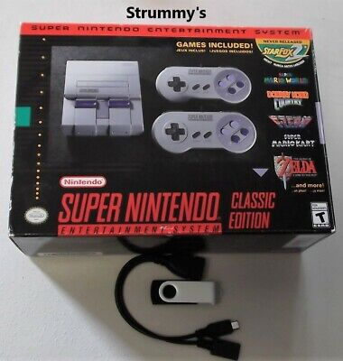 $ CDN264.28 • Buy SNES Mini Classic Edition Authentic Used Modded 726 Games!!  Free Ship!!
