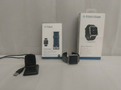 $ CDN12.72 • Buy Fitbit Blaze Smart Fitness Watch Small Black / Silver With New Blue Band Charger