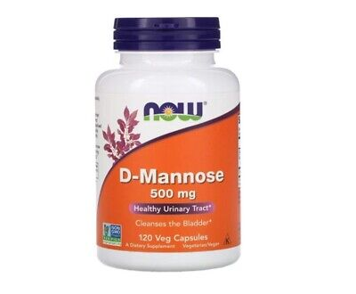 AU44 • Buy Now Foods, D-Mannose, 500 Mg, 120 Veg Capsules I