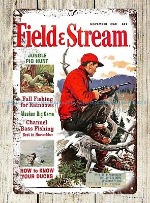 Wall Art Sale Plaque Cover Print Of Field And Stream 1960 Metal Tin Sign • 11.43£