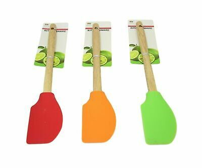 £3.49 • Buy Non-Scratch Wooden Silicone Spatula Utensil Mixing Spoon Cooking Baking Kitchen