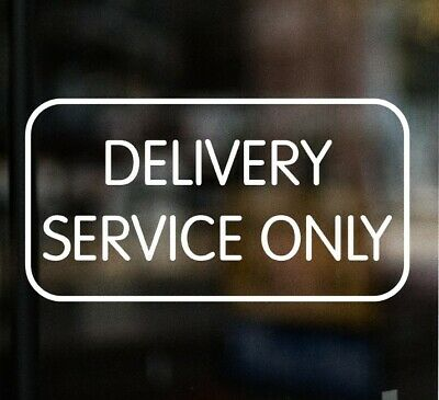 £3.99 • Buy DELIVERY SERVICE ONLY Pizza Sign Window Sticker Cafe Restaurant Chinese Kebab