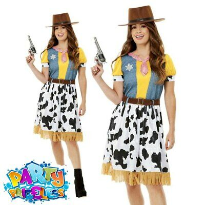 £24.99 • Buy Adult Ladies Woody Jessie Western Cowgirl Costume Book Day Fancy Dress Outfit