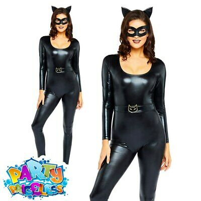 £23.99 • Buy Adult Catwoman Costume Ladies Super Hero Halloween Book Day Fancy Dress Outfit