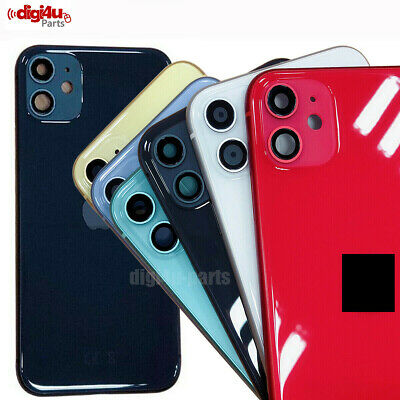 For IPhone 11 Metal Frame Back Chassis Housing Rear Glass Cover Replacement UK • 46.99£