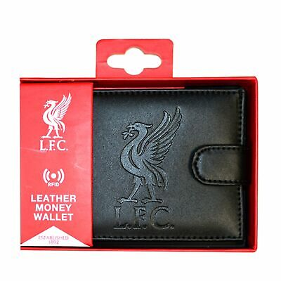 Liverpool RFID Embossed Leather Wallet New Sport Football Gift Fathers Day • 19.09£