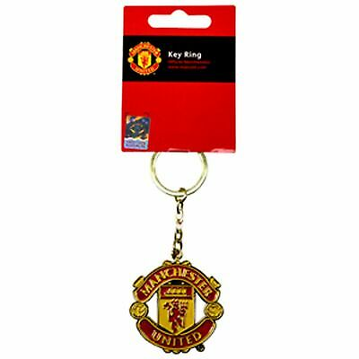 Manchester United Crest Keyring New Football Sport Gift Fathers Day Birthday • 5.89£