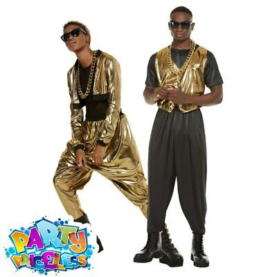 Adult 80s Hammer Time Costume MC Hammer Rapper Mens Womens Fancy Dress Outfit • 22.49£