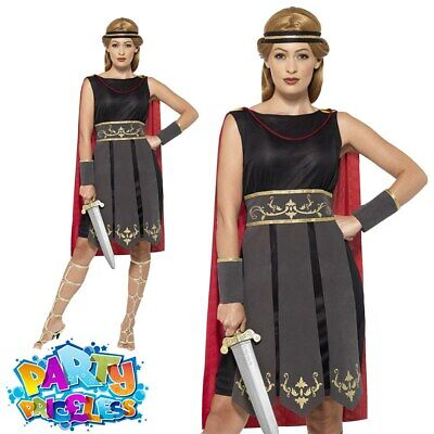 £12.99 • Buy Adult Ladies Roman Warrior Costume Spartan Gladiator Book Day Fancy Dress Outfit