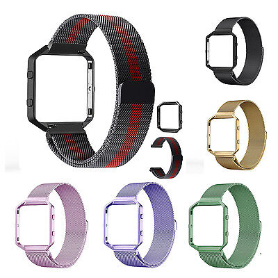 $ CDN13.69 • Buy Milanese Stainless Steel Magnetic Loop Wrist Band Strap + Frame For Fitbit Blaze