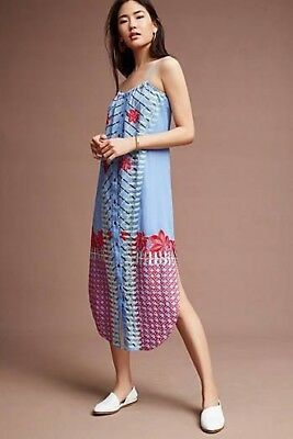 $ CDN112.04 • Buy New Anthropologie Estina Embroidered Dress By Lilka.Large