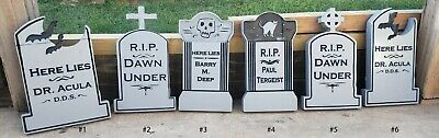 $ CDN14.52 • Buy Halloween Tombstone Yard Decorations, Hand Painted, Custom, 2 In Polystyrene