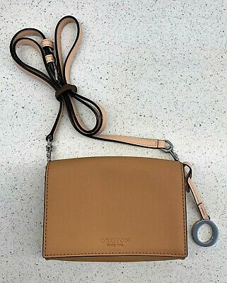 AU10 • Buy Oroton Satchel Bag Cross Strap Tan Cross Body Hand Bag