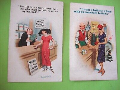 2 X ANTIQUE POSTCARD'S.BY INTER-ART-Co COMIQUE & KAY-GEE SERIES. ARTIST McGILL. • 7.99£