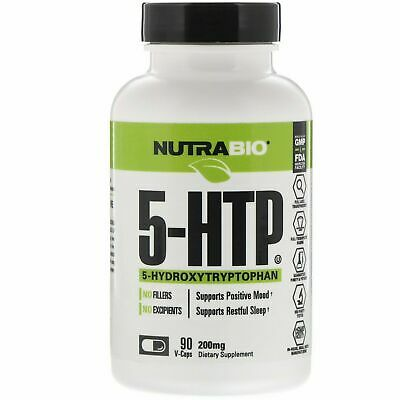 AU41 • Buy NutraBio Labs-- 5-HTP, 200 Mg, 90 V-Caps I