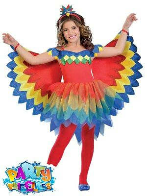 Kids Girls Pretty Parrot Fairy Costume Tutu Book Day Childs Fancy Dress Outfit • 13.99£