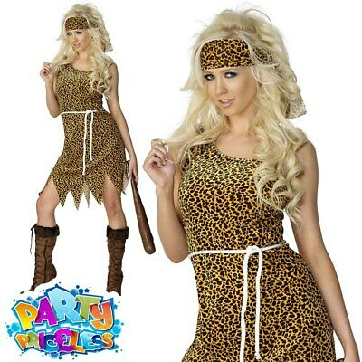 £6.49 • Buy Adult Cavewoman Costume Sexy Cave Girl Fancy Dress Prehistoric Outfit UK 8-18