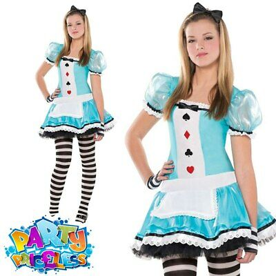 £17.99 • Buy Teen Clever Alice Costume Girls Fairytale Fancy Dress Book Day Wonderland Outfit
