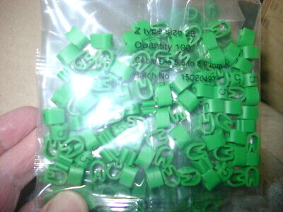 £1 • Buy Z-Type Cable Markers Size 23  - GREEN No. 5 - Packets Of 100