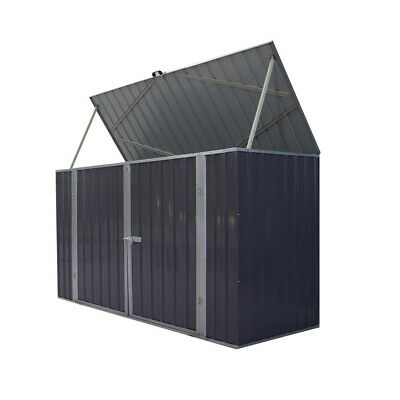 Galvanized Metal Steel Garden Bike Shed Tool Storage Shed Unit House Bicycle Box • 249.99£