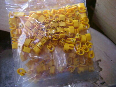 £1 • Buy Z-Type Cable Markers Size 23  - YELLOW No. 4 - Packets Of 100