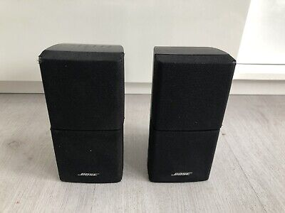 2 X BOSE BLACK DOUBLE CUBE SPEAKERS ACOUSTIMASS 5 10 15 LIFESTYLE 18 28 *906* • 62.99£