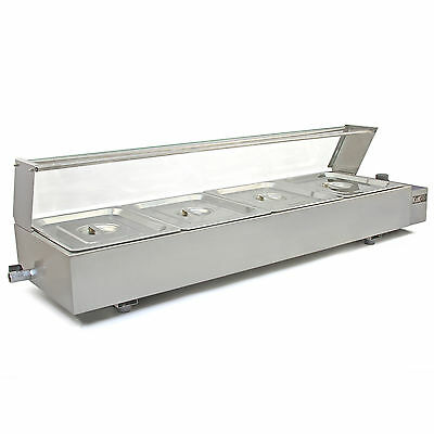 £249.99 • Buy Bain Marie Electric Food Warmer 4 Pan Pot Gastronorm Commercial Wet Well Display