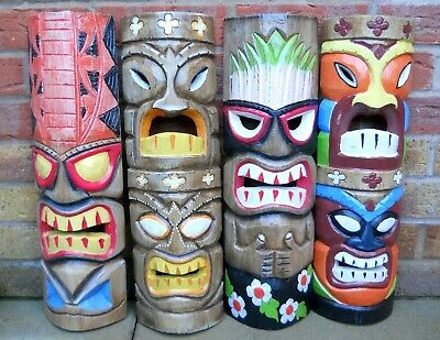 NEW DESIGN Carving Wooden TIKI MASK Small 50 Cm Wall Decoration Multicoloured  • 24.99£