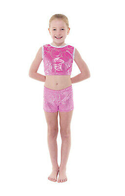 £25 • Buy Tappers And Pointers Velvet Crop Top And Shorts Set Gymnastics Acro Gym Dance