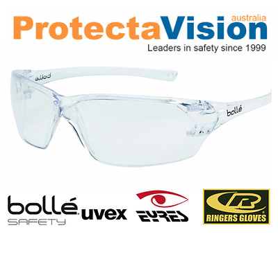 AU19.50 • Buy Bolle Safety Glasses - Prism - Clear Lens - Med Impact
