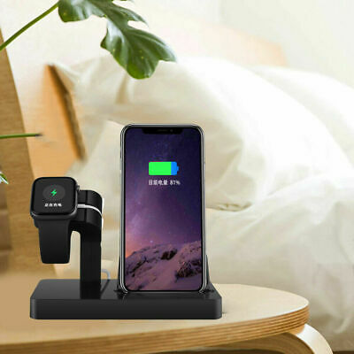 AU18.99 • Buy 2in1 Charger Dock Charging Stand Station For IWatch 6/5/4/3/2/1 IPhone 11 XS 8 X