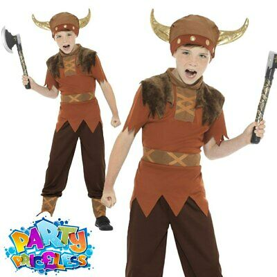 £9.49 • Buy Kids Boys Viking Warrior Costume Book Week Day Medieval Child Fancy Dress Outfit