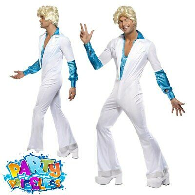 Adult Mens 1970s Disco Man Costume Abba Groovy Fancy Dress Party Outfit • 27.99£