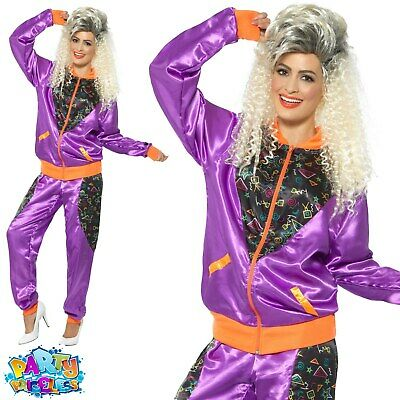 £19.99 • Buy Adult 1980s Retro Shell Suit Costume Ladies Scouse Fancy Dress Womens Outfit