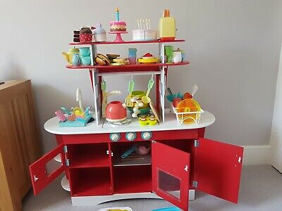 ELC Early Learning Centre Wooden Retro Diner Kitchen Plus Amazing Accessories • 40£