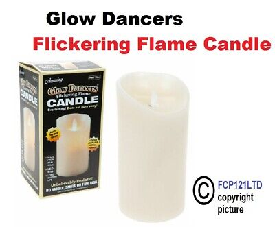 £10.70 • Buy Battery Operated Glow Dancers Flickering Flame Amazing Candle Light Real Wax