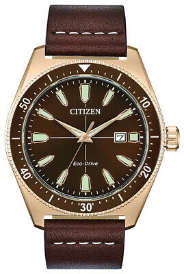 $99.99 • Buy Citizen Eco-Drive Brycen Men's Brown Leather Date Display 43mm Watch AW1593-06X