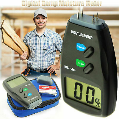 Digital LCD Damp Moisture Meter Detector Tester Wood Timber Plaster Sensor+ Case • 14.99£