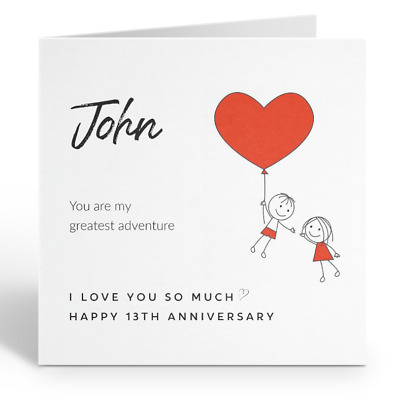 Personalised Husband Happy Anniversary Card Love 1st 2nd 5th 10th 15th 20th 30th • 3.49£