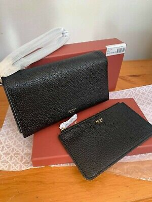 AU139 • Buy Oroton Avalon Black Clutch Wallet & Pouch-authenticity Guaranteed Rrp $199.00