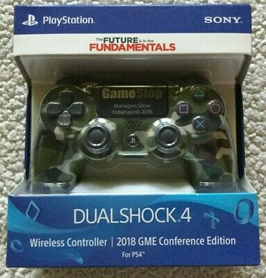 AU159.59 • Buy PS4 Playstation Dualshock Camo Controller From 2018 GameStop Managers Show New