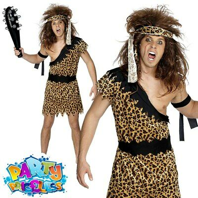 £12.49 • Buy Mens Caveman Tarzan Jungle Fancy Dress Costume Stag Do Cave Man Adult Outfit
