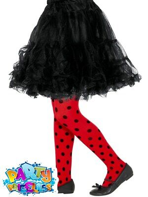 Child Ladybird Bug Spot Tights Girls Insect Book Week Day Fancy Dress Accessory  • 3.49£