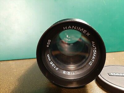 Hanimex Automatic Camera Lense 1:2.8 F135mm ǿ55 With Caps And Case. • 6.99£