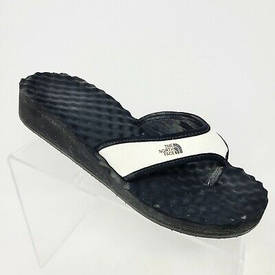 Woman's The North Face White Base Camp Wedge Flip Flops Thong Sandals Size 10 • 21.37£